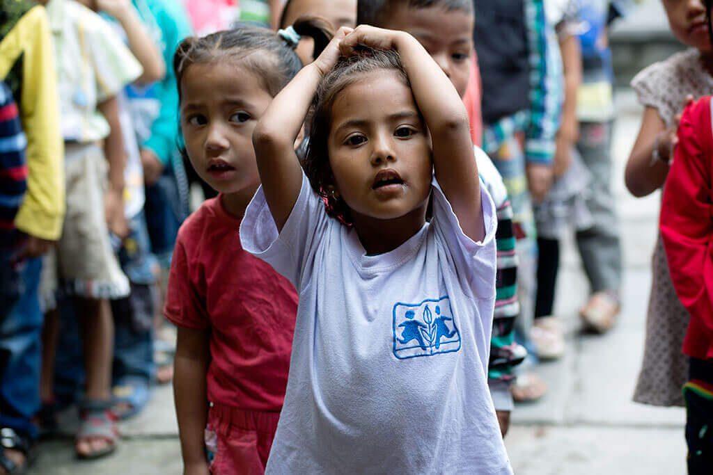 Dos niñas nepalíes