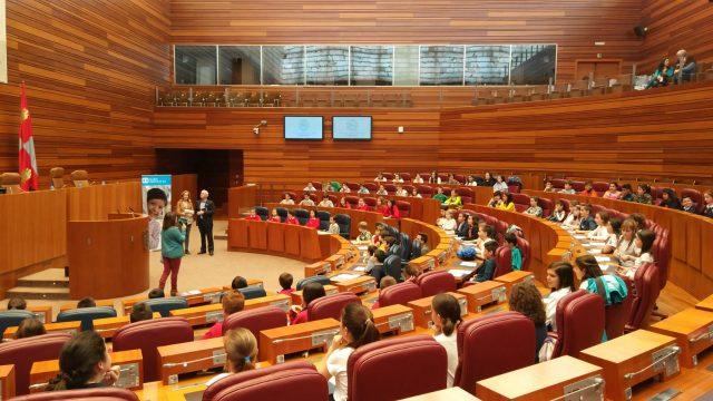 Pleno infantil en las Cortes de Castilla y León
