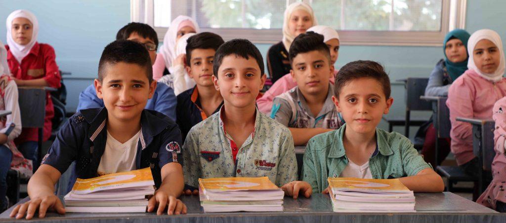 Los niños vuelven a la escuela en Siria