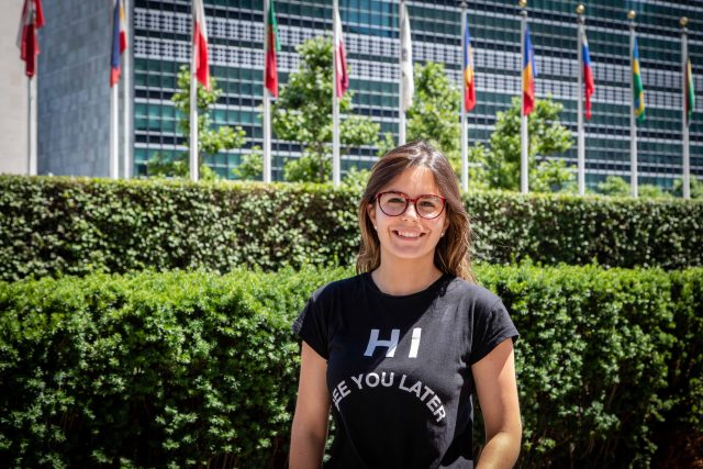 Alexandra en Naciones Unidas de Nueva York