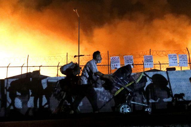 Incendio en Moria